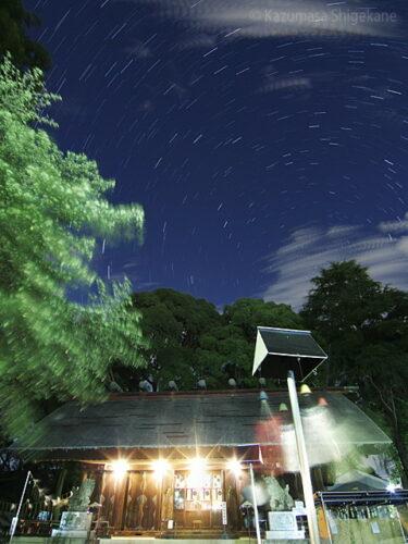 風鈴の音響く夜の所澤神明社